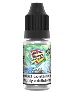 Vape Simply Salts  Apple & Berry 10ml eliquid
