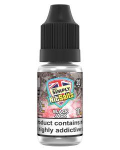 Vape Simply Salts Blackjack 10ml eliquid