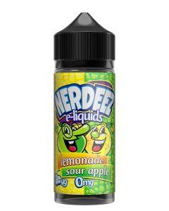 Nerdeez Lemonade Sour Apple 120ml eliquid