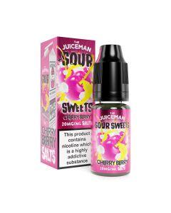 The Juiceman Sour Salts Cherry Berry Sour 10ml eliquid